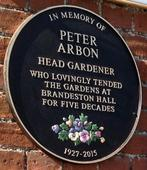 Peter Arbon Memorial Plaque - cropped