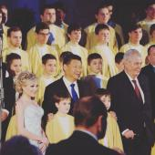 Christina Johnston - Prague Castle - with Chinese President