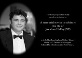 Jonathan Hulley - memorial service - small