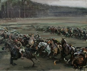 Alfred Munnings Charge of Flowerdew's Squadron (170x140)